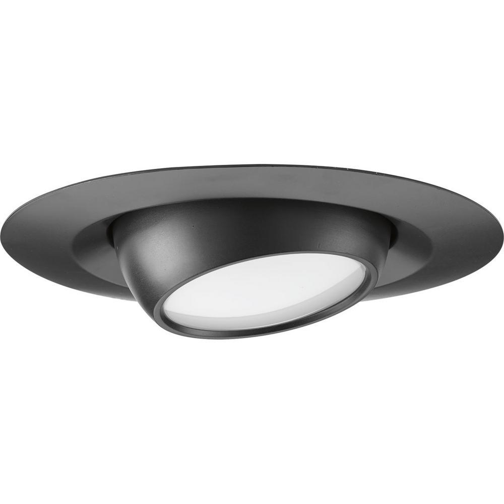 6 in. Black Integrated LED Recessed Trim