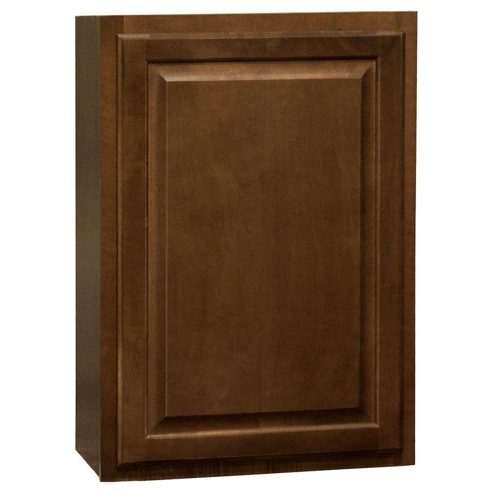 Hampton Assembled 21x30x12 in. Wall Kitchen Cabinet in Cognac