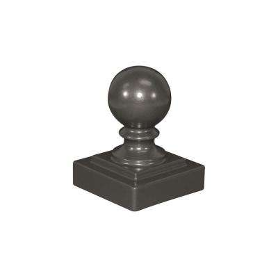 2-1/2 in. x 2-1/2 in. x 3-3/4 in. Pewter Aluminum Ball Post Top