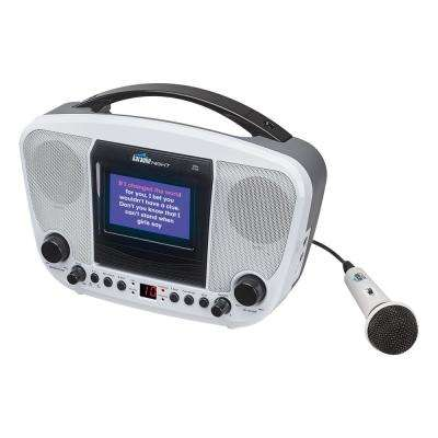 "CD+G Karaoke Machine with 4.3"" TFT Color Monitor"