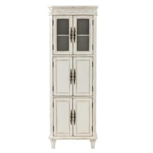 Home decorators collection chelsea 25 in w x 14 in d x 72 in h bathroom linen cabinet in - Antique bathroom linen cabinets ideas ...