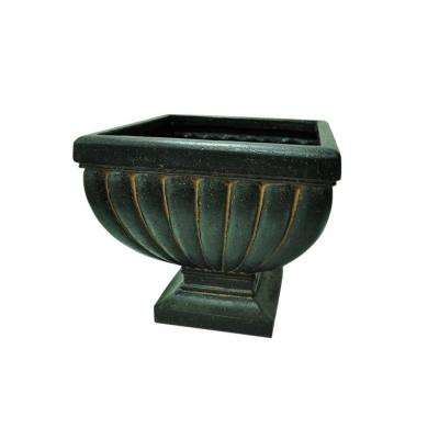 20 in. H Charcoal Cast Stone Essex Urn