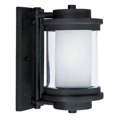 Lighthouse 6 in. W 1-Light Anthracite Outdoor Wall Lantern Sconce