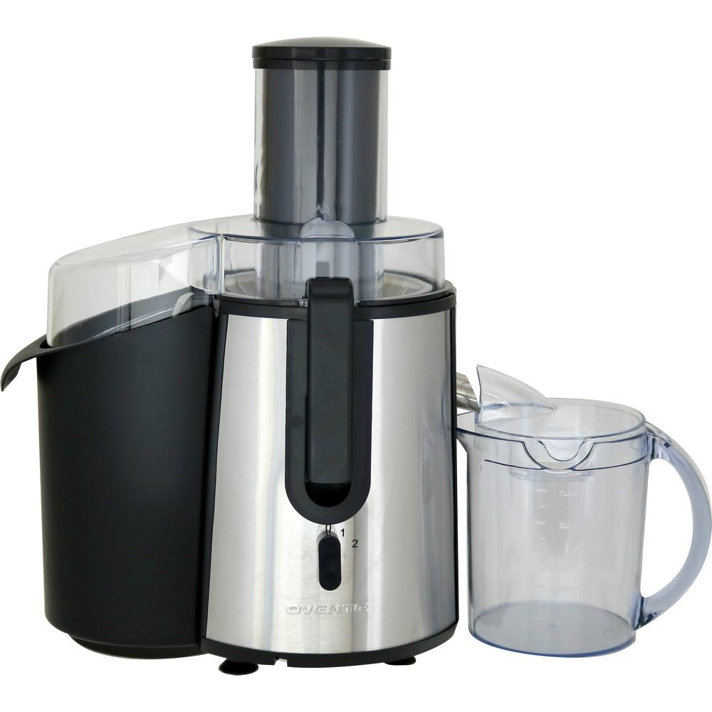 Ovente 60 8 Oz Wide Mouth Fruit And Vegetable Juice Extractor Centrifugal Juicer Je7607br The
