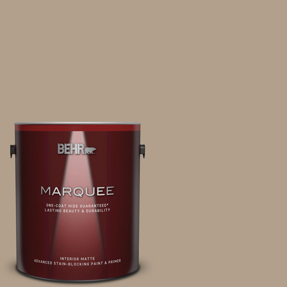 Behr Marquee 1 Gal Pwl 85 Stepping Stones Matte Interior Paint And Primer In One 145401 The Home Depot