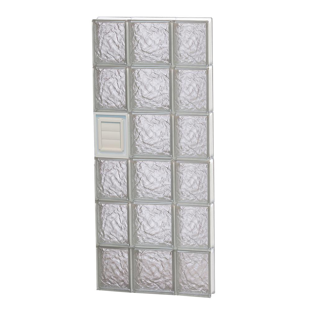 Clearly Secure 19.25 in. x 46.5 in. x 3.125 in. Ice Pattern Glass ...