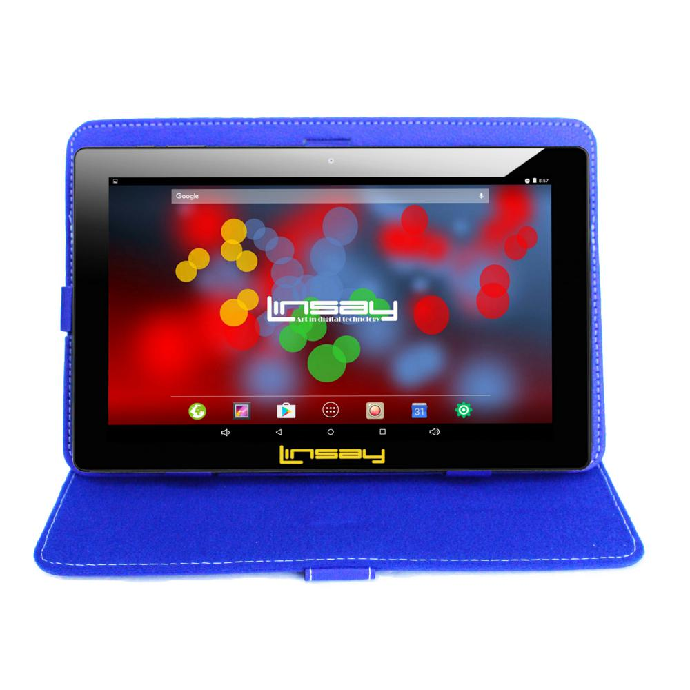 LINSAY 10.1 in. 1280x800 IPS 2GB RAM 16GB Android 9.0 Pie Tablet with Blue Case was $324.99 now $79.99 (75.0% off)