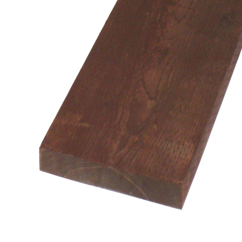 null Pressure-Treated Lumber HF Brown Stain (Common: 2 in. x 12 in. x 16 ft.; Actual: 1.5 in. x 11.25 in. x 192 in.)