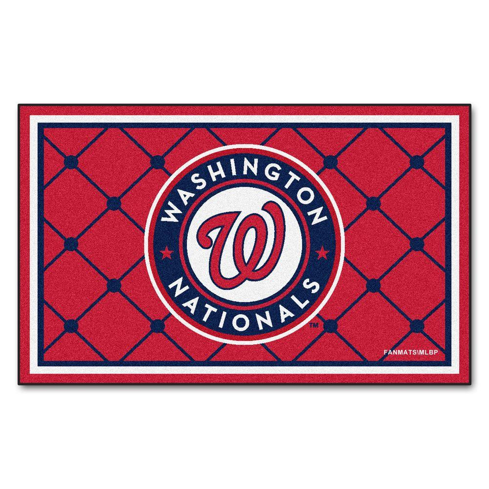 FANMATS Washington Nationals 4 Ft. X 6 Ft. Area Rug-7093