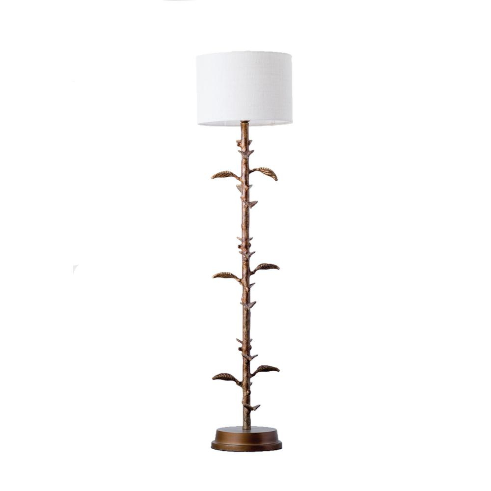 Sensational 3R Studios 48 In Bronze Floor Lamp With Branch Leaves Theyellowbook Wood Chair Design Ideas Theyellowbookinfo