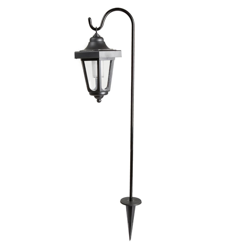 Pure Garden Solar LED Black Hanging Coach Lanterns (2-Pack)