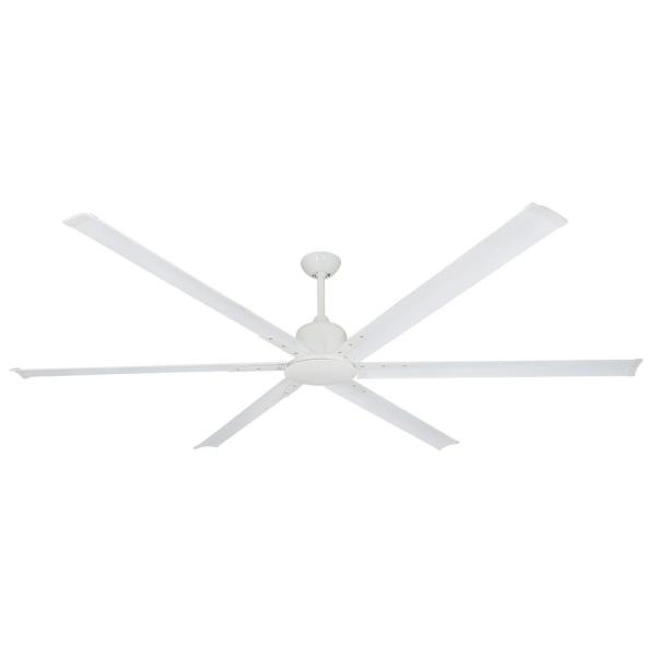 Titan II 84 in. Indoor/Outdoor Pure White Ceiling Fan with Remote Control