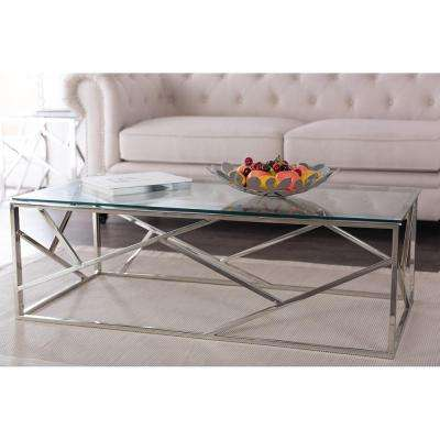 Fiona Modern Silver Metallic Coffee Table