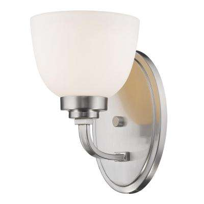 owen 1light brushed nickel wall sconce