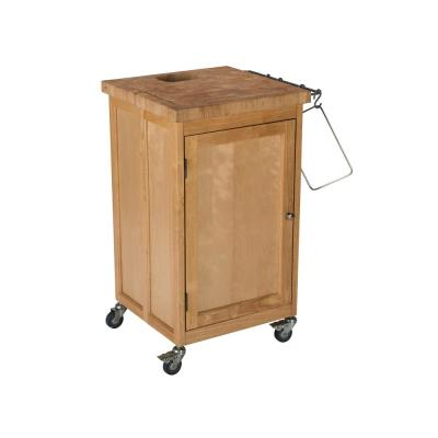 Pro Chef Natural Kitchen Cart with Wine Rack