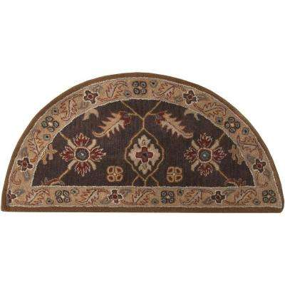 Epictus Chocolate 2 ft. x 4 ft. Hearth Indoor Area Rug