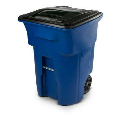 96 Gal. Wheeled Blue Trash Can