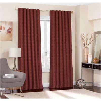Adalyn Blackout Window Curtain Panel in Burgundy - 52 in. W x 63 in. L