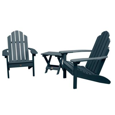 Classic Westport Federal Blue 3-Piece Recycled Plastic Outdoor Conversation Set