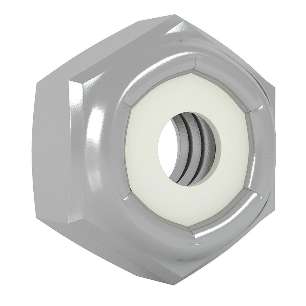 KONGKI 3//8-16 Lock Nut Stainless Steel Finish Hex 304 18-8 Stainless Steel with Nylon Insert 25 PCS