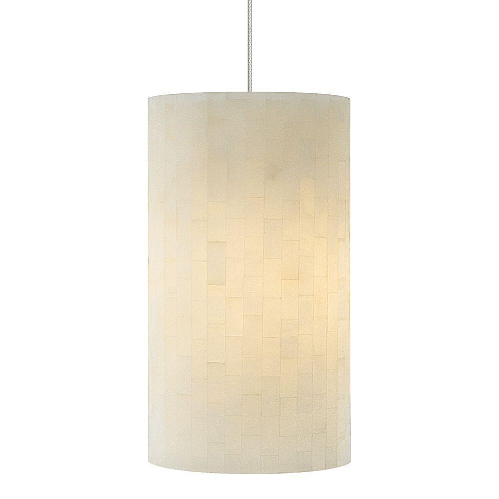 LBL Lighting Coliseum 1-Light Satin Nickel Opal Xenon Hanging Mini Pendant