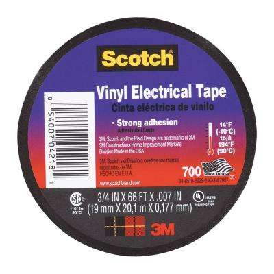 Scotch 3/4 in. x 66 ft. Electrical Tape (Case of 40)