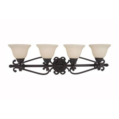 Manor 4-Light Oil-Rubbed Bronze Bath Vanity Light