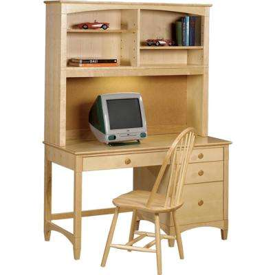 Essex Natural Pedestal Desk With Hutch