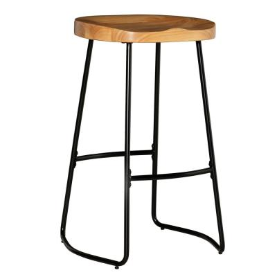 Taylor 30 in. Black Tractor Seat Bar Stool
