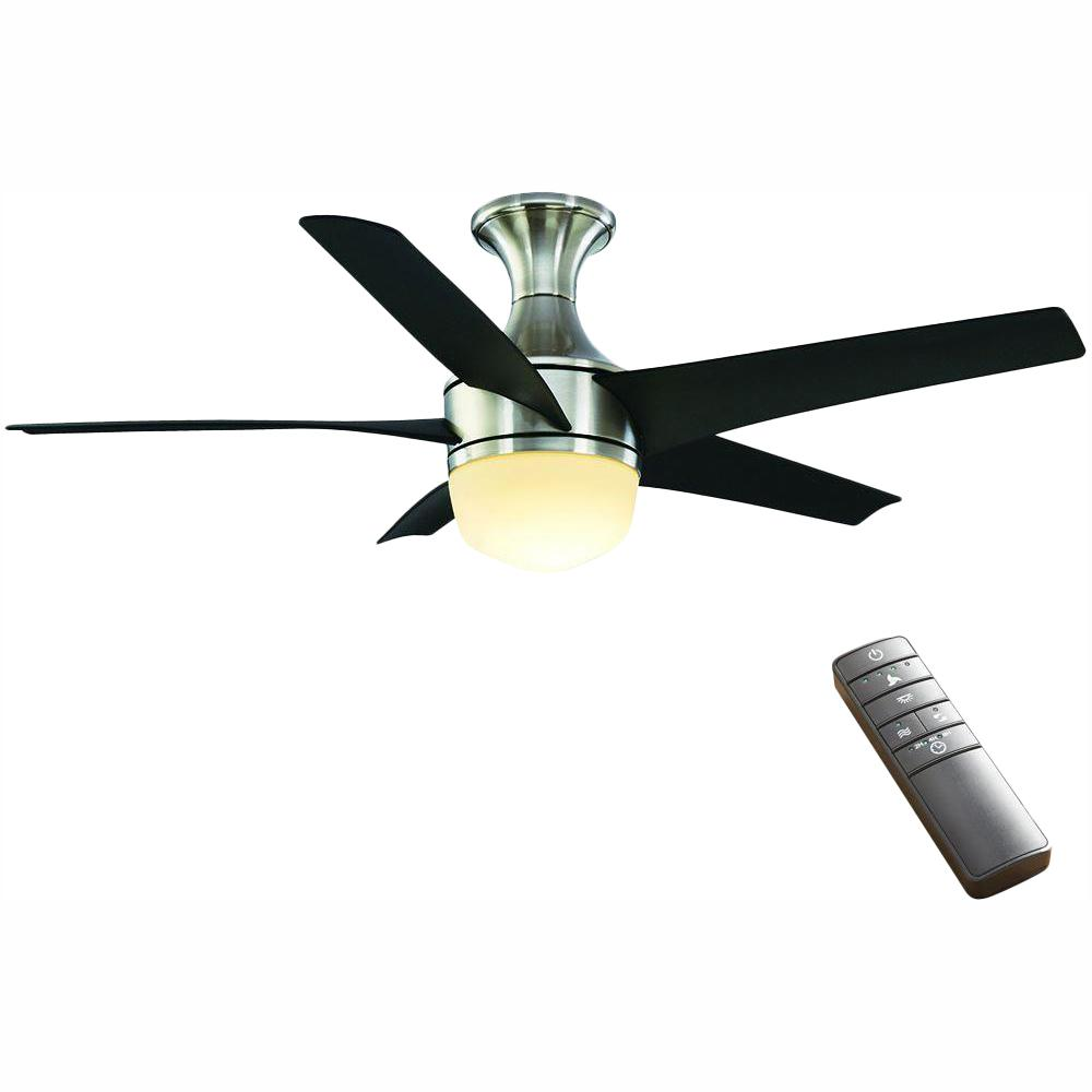 Home Decorators Collection Tuxford 44 in. LED Indoor Brushed Nickel Ceiling Fan with Light Kit and Remote Control