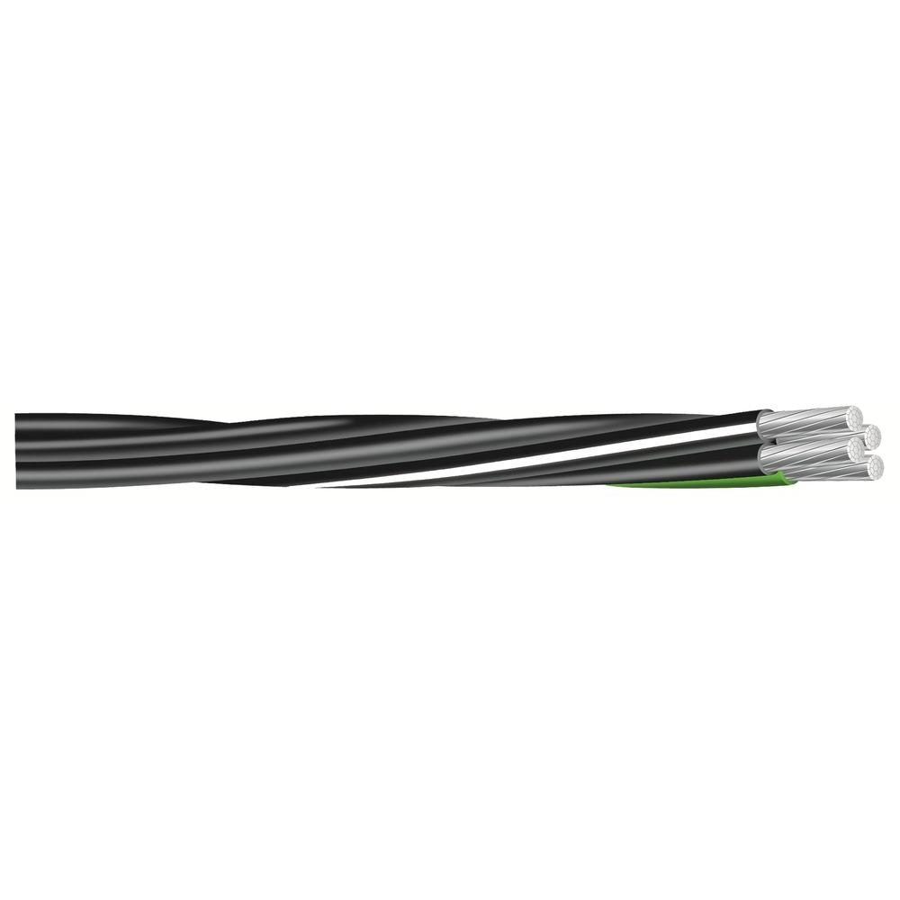(By-the-Foot) 2-2-4-6 Black Stranded AL MHF USE-2 Cable