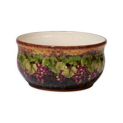 Gilded Wine 10 in. x 5 in. Multi-Colored Deep Bowl
