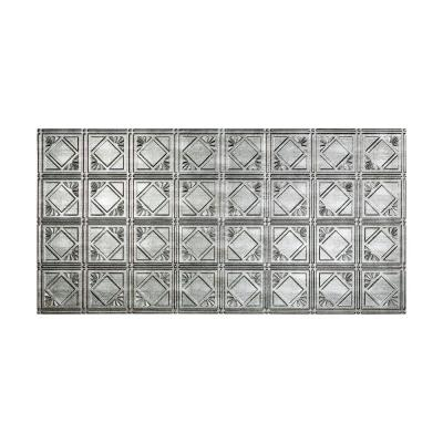 Traditional #4 2 ft. x 4 ft. Glue Up Vinyl Ceiling Tile in Crosshatch Silver (40 sq. ft.)