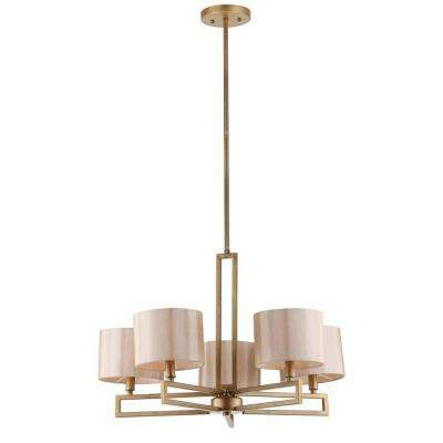 Catena 5-Light Antique Gold Chandelier