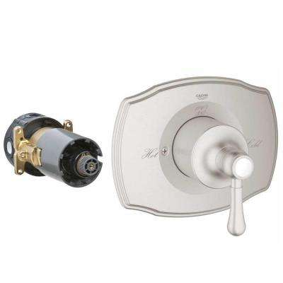 Authentic Single Handle GrohFlex Universal Rough-In Box Single Function Pressure Balance Valve Kit In Brushed Nickel