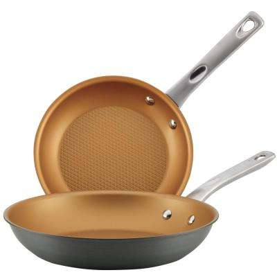 Home Collection 9.25 in. and 11.5 in. 2-Piece Hard Anodized Aluminum Skillets Twin Pack