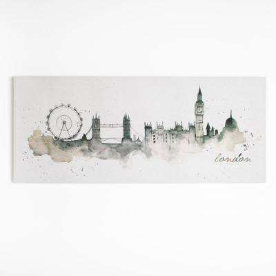 """47 in. x 20 in. """"London Watercolor"""" by Graham and Brown Printed Canvas Wall Art"""