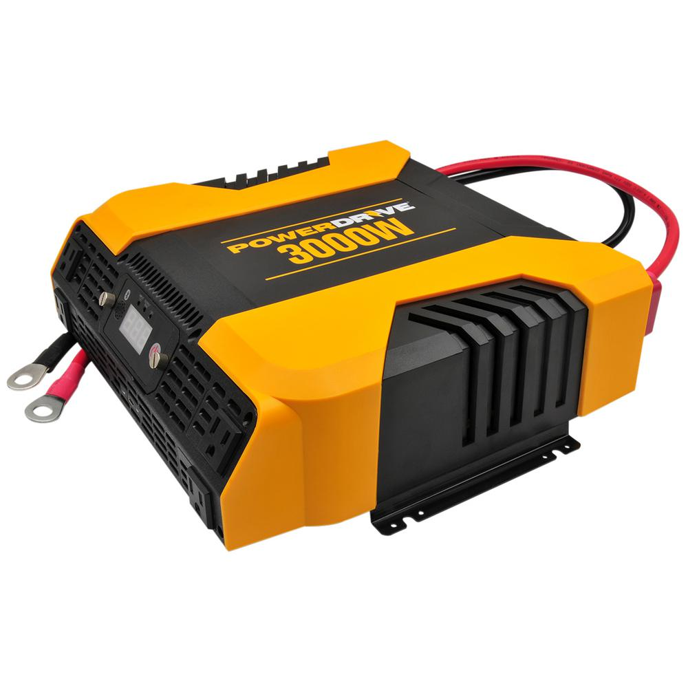 Powerdrive Pd3000 3000 Watt Power Inverter With 4 Ac 2 Usb App With Bluetooth Rainbowlands Lk