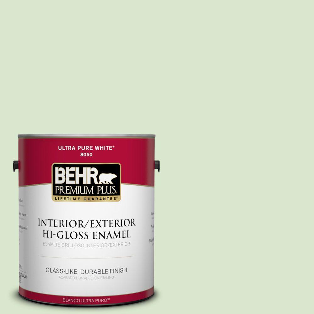 BEHR Premium Plus 1-gal. #T12-18 Minty Frosting Hi-Gloss Enamel Interior/Exterior Paint