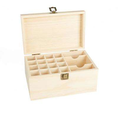 19-Capacity Brown Essential Oil Storage Box