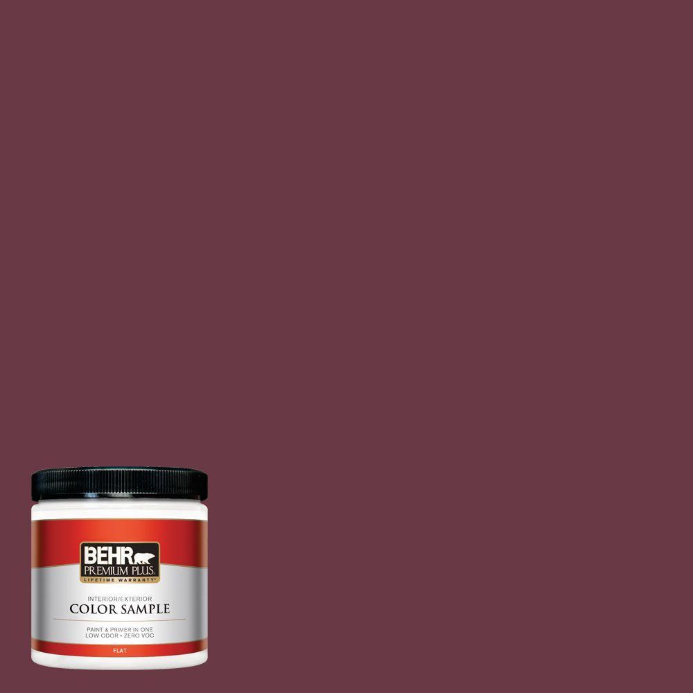 8 oz. #110D-7 Vin Rouge Flat Zero VOC Interior/Exterior Paint and
