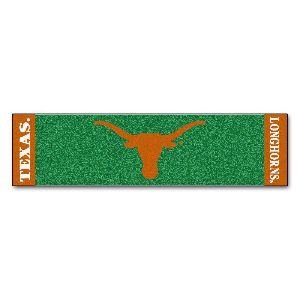 NCAA University of Texas 1 ft. 6 in. x 6 ft. Indoor 1-Hole Golf Practice Putting Green