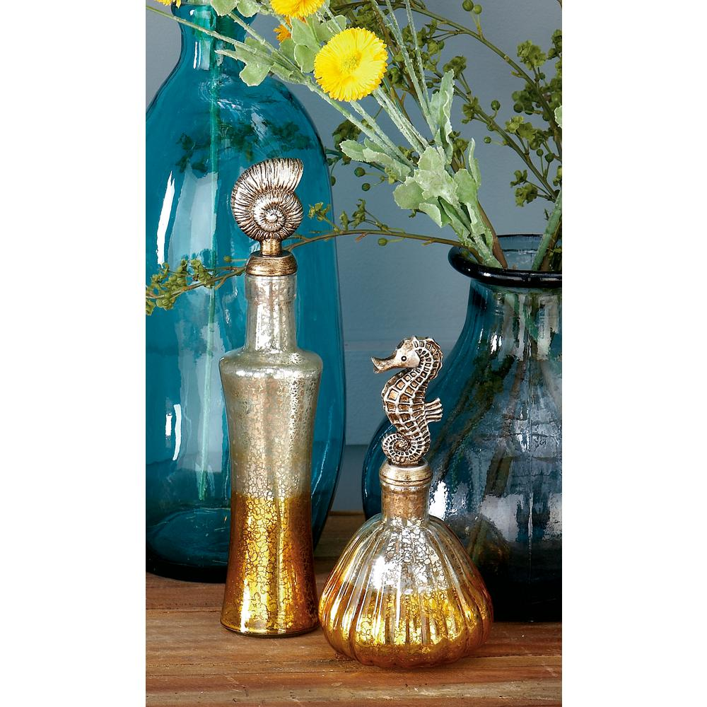 17 in. Honeycomb Glass Decorative Bottle in Teal-53076 - The Home Depot