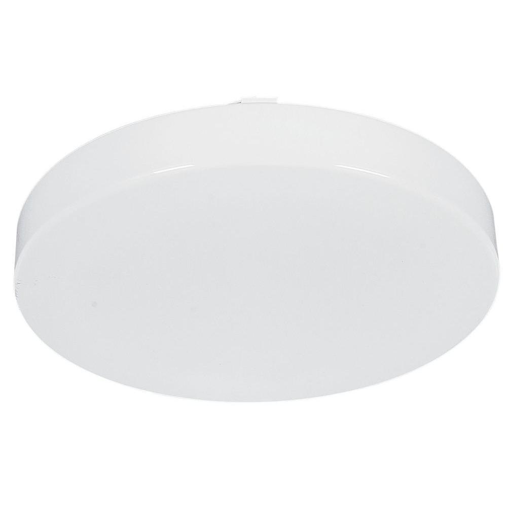 Sunset Leger 1-Light White Flush Mount