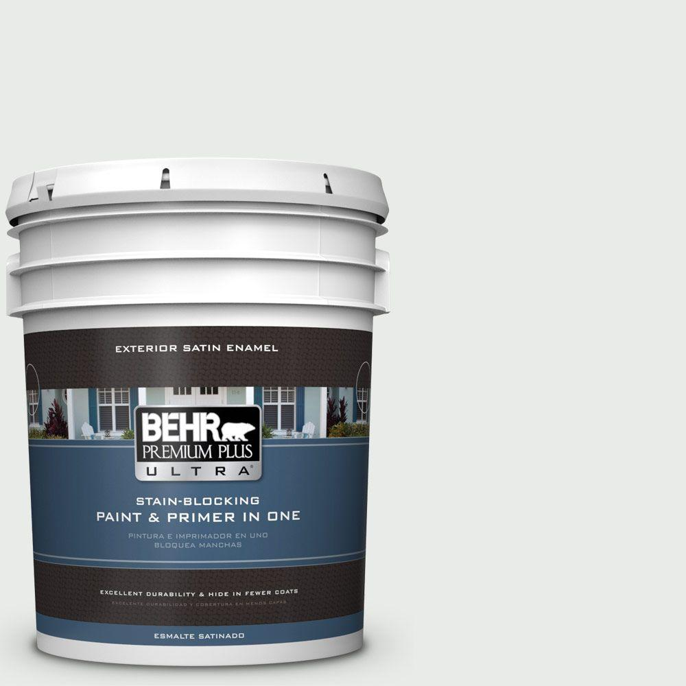5-gal. #750E-1 Steam White Satin Enamel Exterior Paint