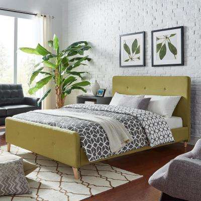 Veronica Mid Century Chartreuse King Standard Bed