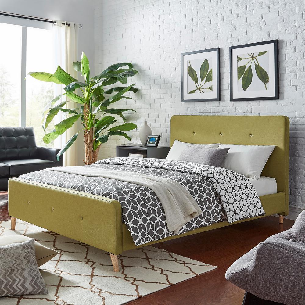 Charmant HomeSullivan Veronica Mid Century Chartreuse Full Standard Bed
