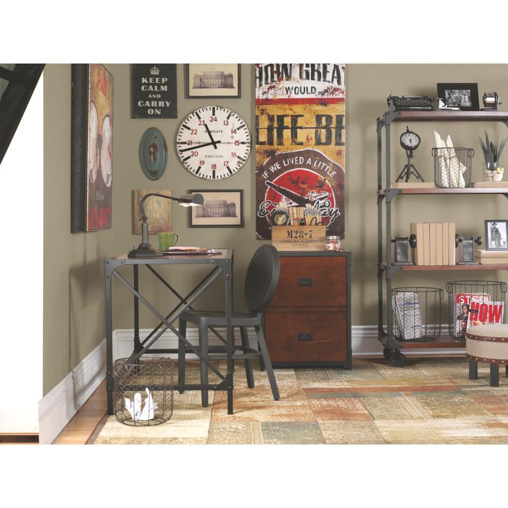 Home Decorators Collection Black and Pine Desk