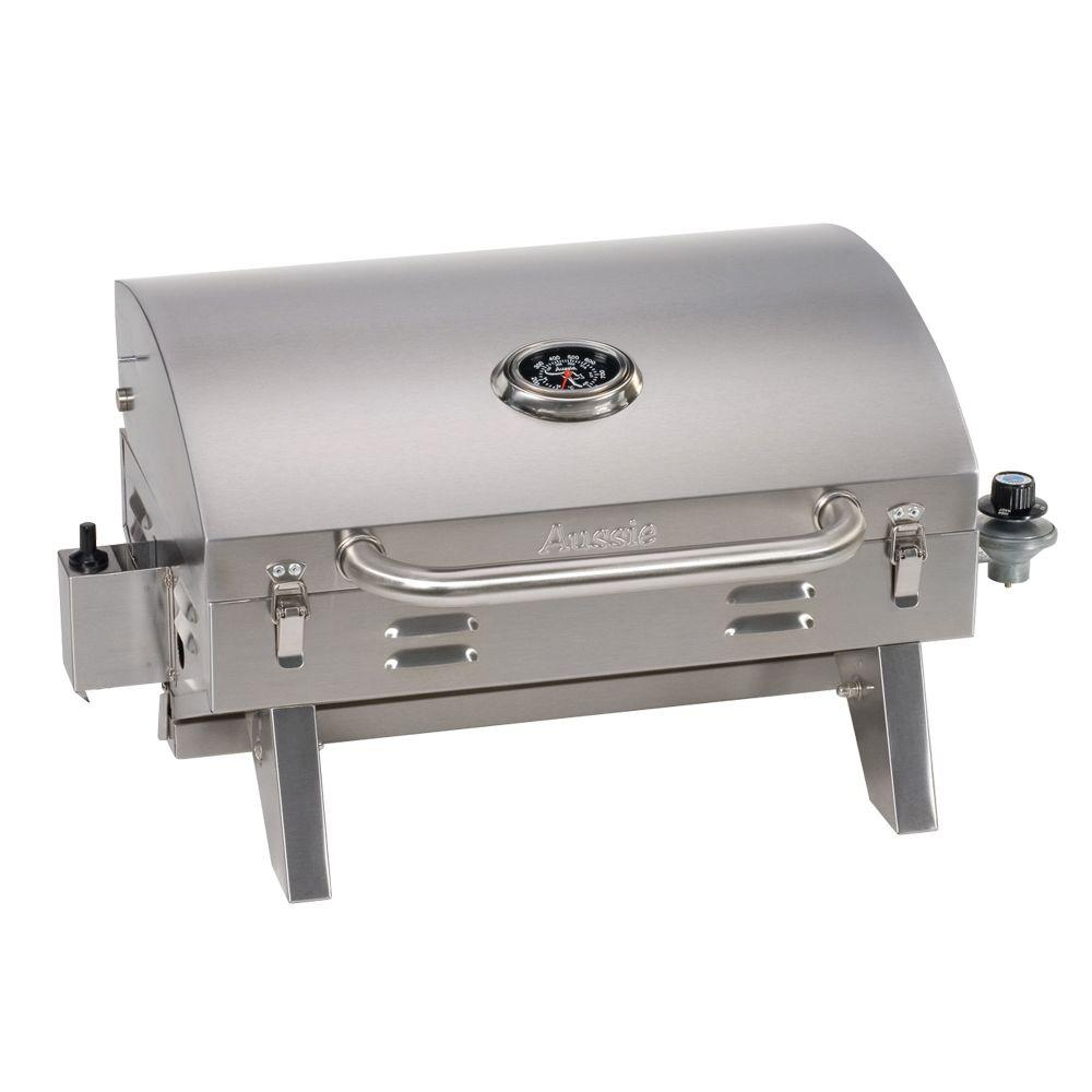 Smoke hollow tabletop portable propane gas grill in