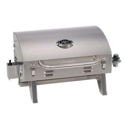 Tabletop Portable Propane Gas Grill in Stainless Steel